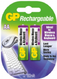 GP AA Rechargeable Batteries for Wireless Mouse & Keyboard - 2 Pack 1800mAh